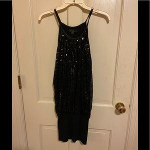 Forever 21 Mini dress in black sequins
